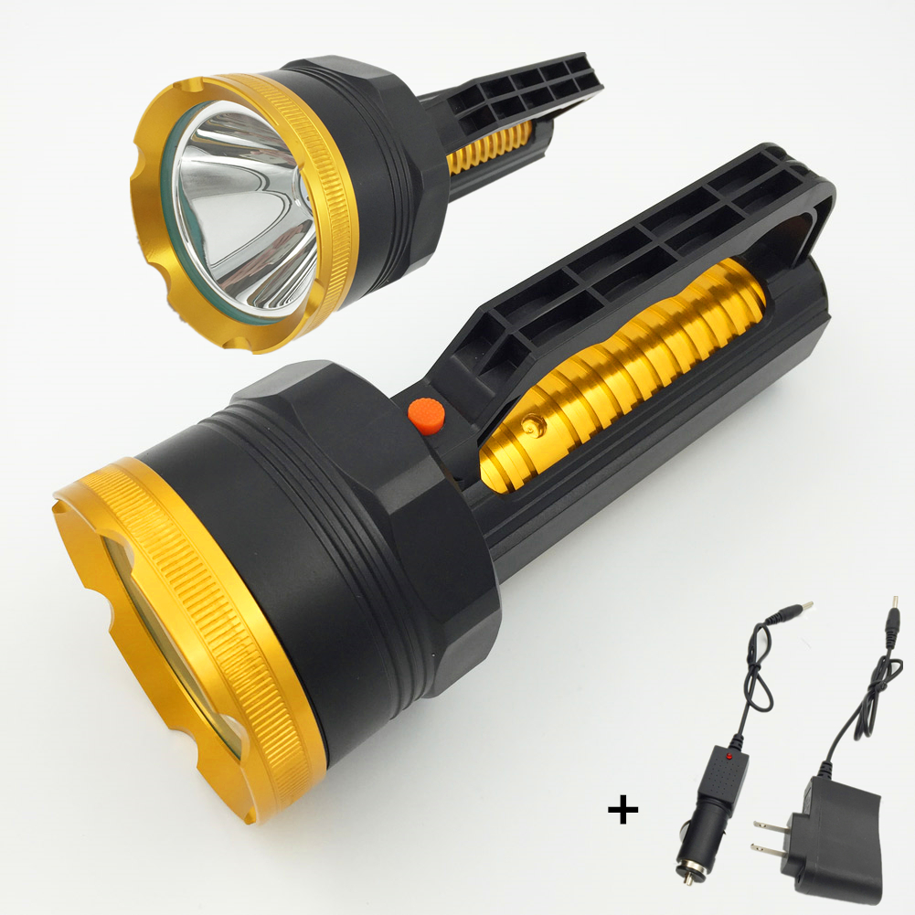 Long Range Searchlight Flashlight Rechargeable Powerful Flash Search Light Torch Lanterna Camping Lights lamp with Charger super xenon flash light rechargeable flashlight hunting far range yellow light outdoor high power bright powerful searchlight