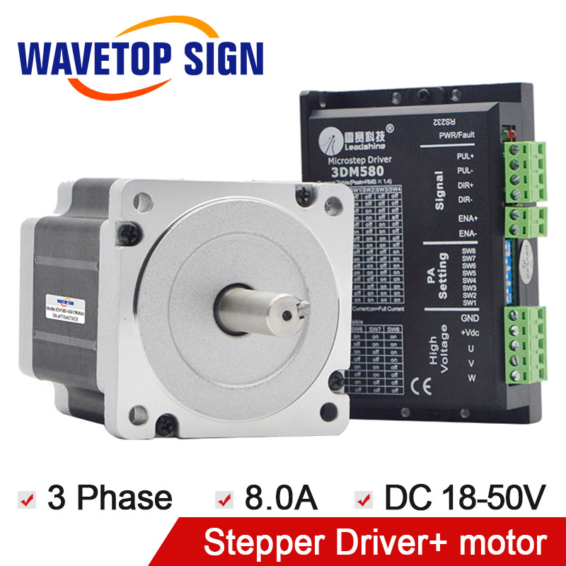 leadshine 3phase 3DM580+leadshine 3phase stepper drive motor 86HT9845A3 leadshine 3phase 3dm683 leadshine 3phase stepper drive motor 573s09 l