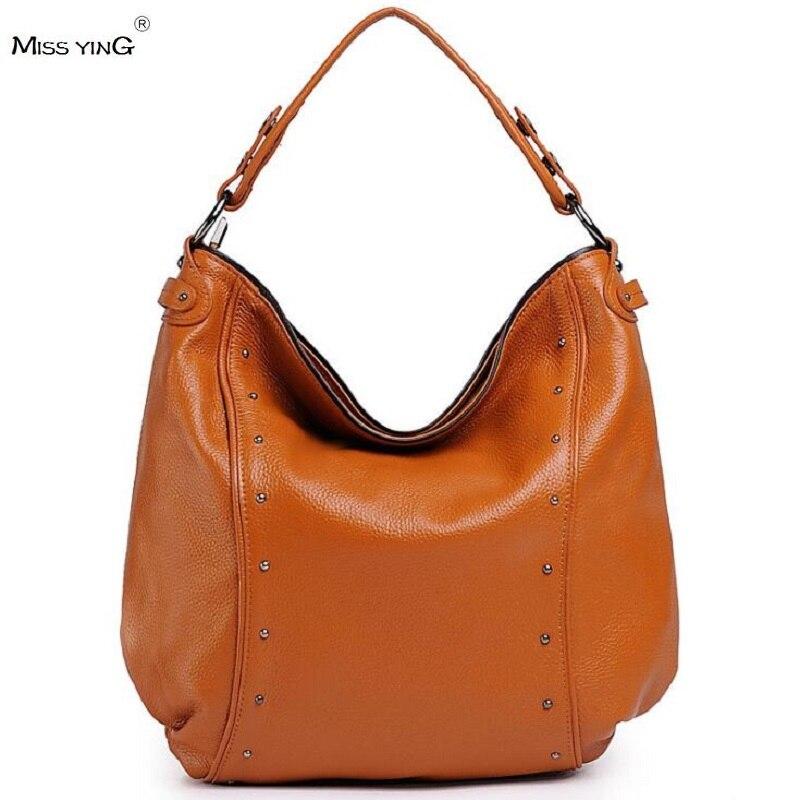 ФОТО MISS YING Women bag Ladies messenger bags handbags woman famous brands big shoulder bag rivet Dollar prices fashion Bucket 8921