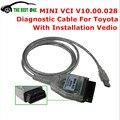 Lo nuevo V10.30.029 MINI Interfaz VCI PARA TOYOTA TIS Techstream MINIVCI FT232RL Viruta Mini-vci J2534 Herramienta de Diagnóstico OBD2 Cable