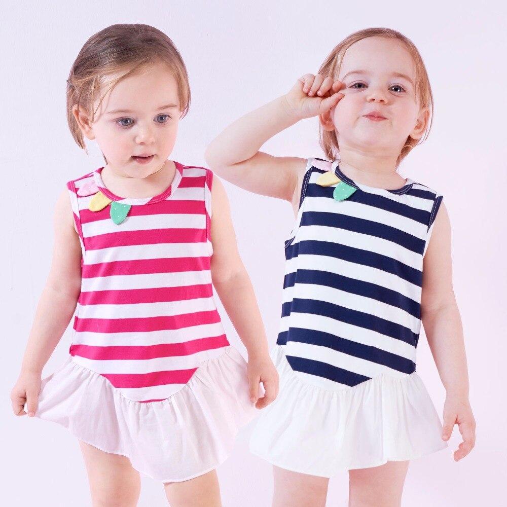 Niños vestidos para Niñas ropa de Babys de la ropa del verano Vestidos de partid