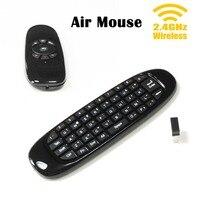 2.4 Ghz Draadloze Gyroscoop Fly Air Mouse Mini Gaming Toetsenbord Backlight Dubbele Side Afstandsbediening Teclado met Usb-ontvanger