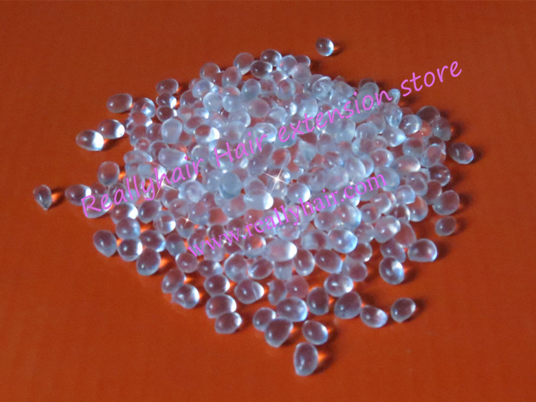 Free Shipping 1kg Keratin Glue Granules Beads Grains Hair Extensions Transparent White Color For I Tip/ U-tip Hair