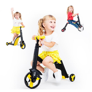 Baby Tricycle 3 In 1 Balance Bike Ride On Toys Scooter ride on tricycle kids balance bike portable baby bicycle stroller tricycle scooter learning walk with pedals