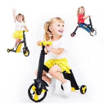 Enfants Scooter Tricycle bébé 3 en 1 Balance vélo tour sur jouets