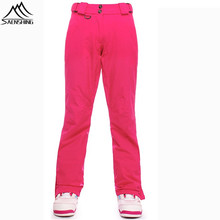 Saenshing Waterproof Ski Pants Women Thicken Breathable Thermal Female Snowboard Sports Skiing Outdoor Winter Snow Trousers