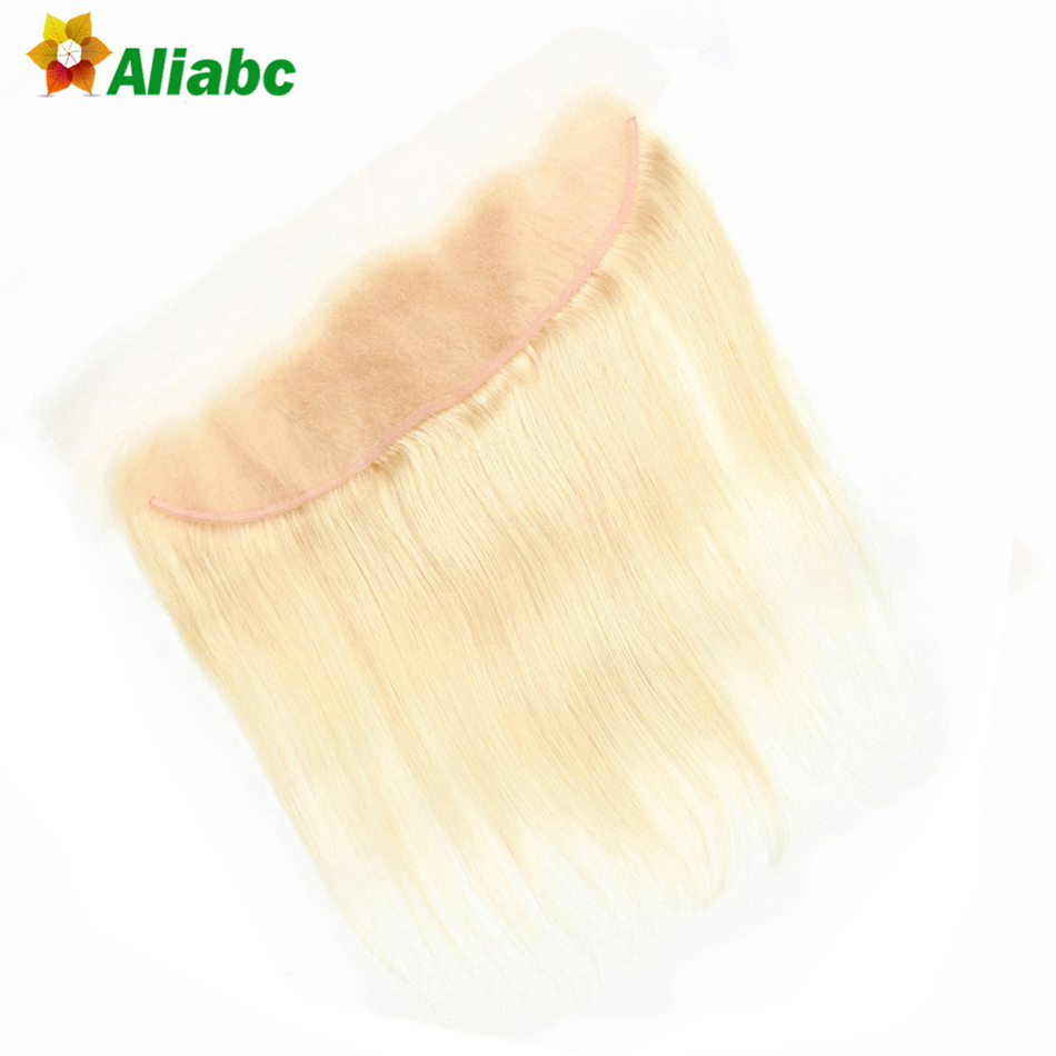 Aliabc Brazilian Straight 13 4 Lace Frontal Closure 100 Human Hair 8 20 Inch 613 Blonde