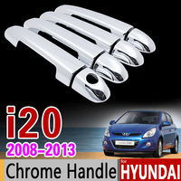 For Hyundai I20 2008 2013 PB Chrome Door Handle Cover Trim Set 2009 2010 2011 2012