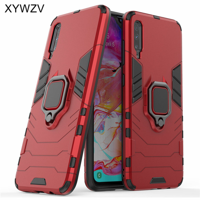 For Samsung Galaxy A70 Case Armor Protect Metal Finger Ring Holder Phone Case For Samsung Galaxy A70 Back Cover For Samsung A70