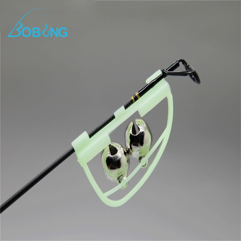 Bobing fluorescent fishing rod pole tip clip luminous glow for Fluorescent fishing line
