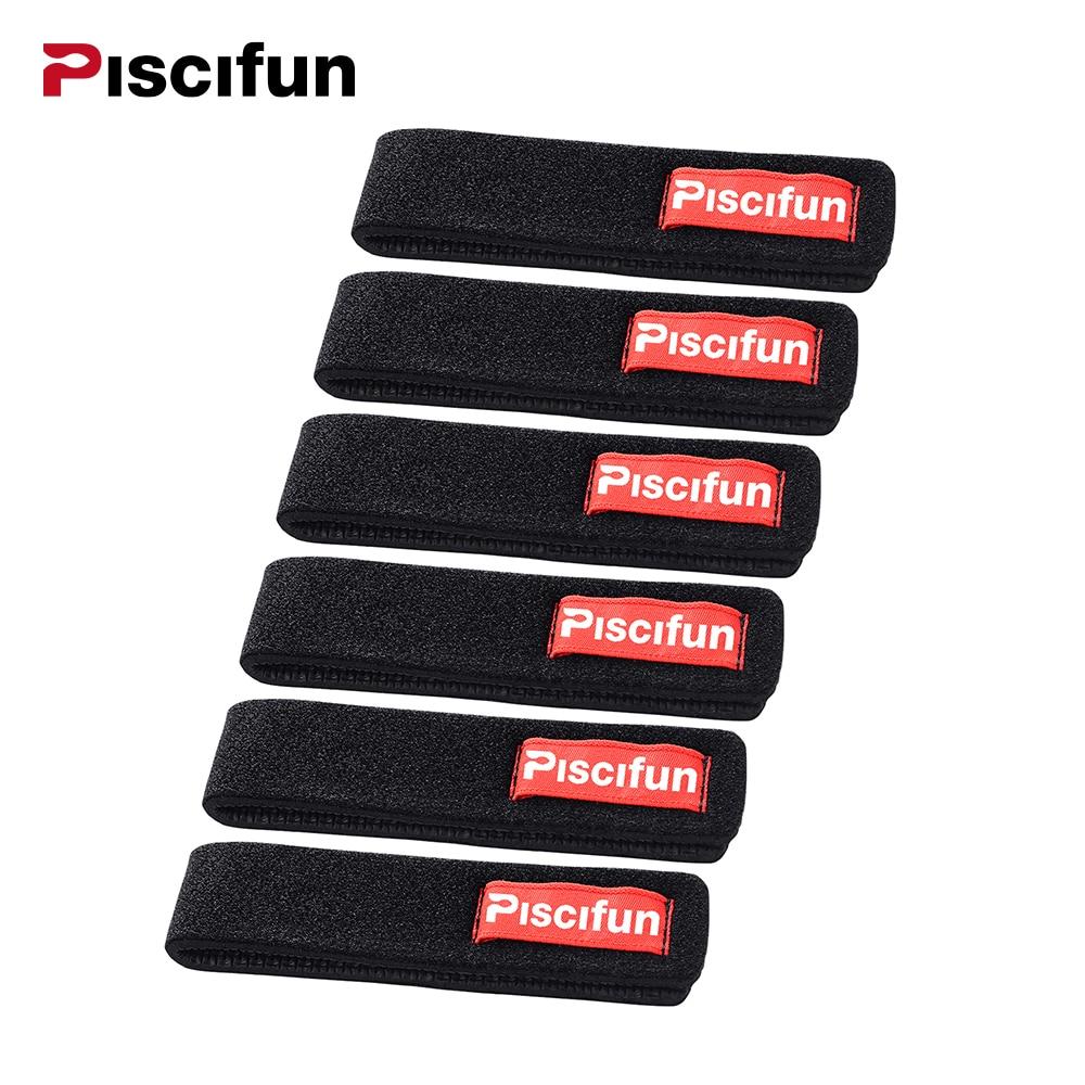 Piscifun 6 Teile / los Angelrute Krawatte Angelrute Angelgerät Rod Strap Gürtel Angelruten Halter Wrap Bag Zubehör