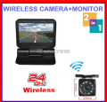 "2.4G Wireless Parking 2ch Video 5"" electrical Lcd  800*480 monitor Automatical flip +front back view HD NightRear View Camera"