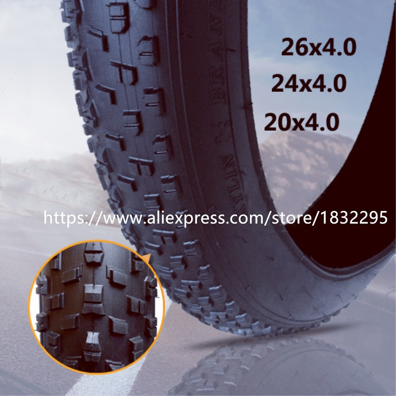 1pair 26*4.0 Bicycle Tire 20*4.0 Beach bike  Use For Snow bike 24*4.0 26 inch 7 21 27speed cross country mountain bike aluminum frame snow beach 4 0 oversized bicycle tire dirt bikes for men