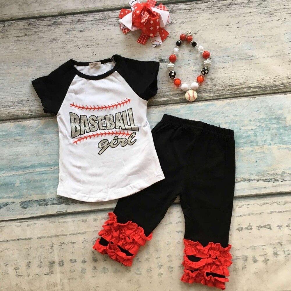 Liefern Baby Kinder Baseball Saison Kleidung Baby Mädchen Baseball Mädchen Kleidung Mädchen Sommer Boutique Baseball Outfits Mit Zubehör Duftendes (In) Aroma