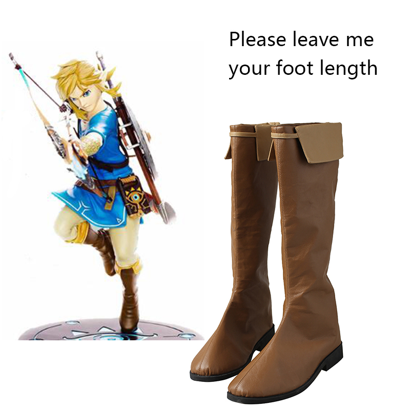 The Legend of Zelda Shoes Breath of the Wild Cosplay Boots Halloween Carnival Cosplay Costume Accessories