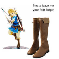 The Legend of Zelda Shoes Breath of the Wild Cosplay Boots Halloween Carnival Cosplay Costume Accessories Props Shoes Adult Men