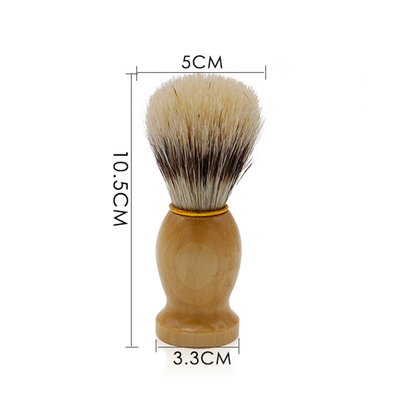 Mythus Barber Brush For Shaving Beard Hair Cleaning Appliance Tool Men's Moustache Care Grooming Shaving Brush With Wood Handle 3