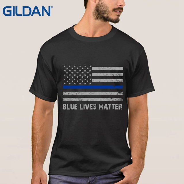 f8210a62 Anime Adults t shirt Blue Live Matter Thin Blue Line Support Police 8  Colors tee shirt Clothing Funny 3XL 100% cotton