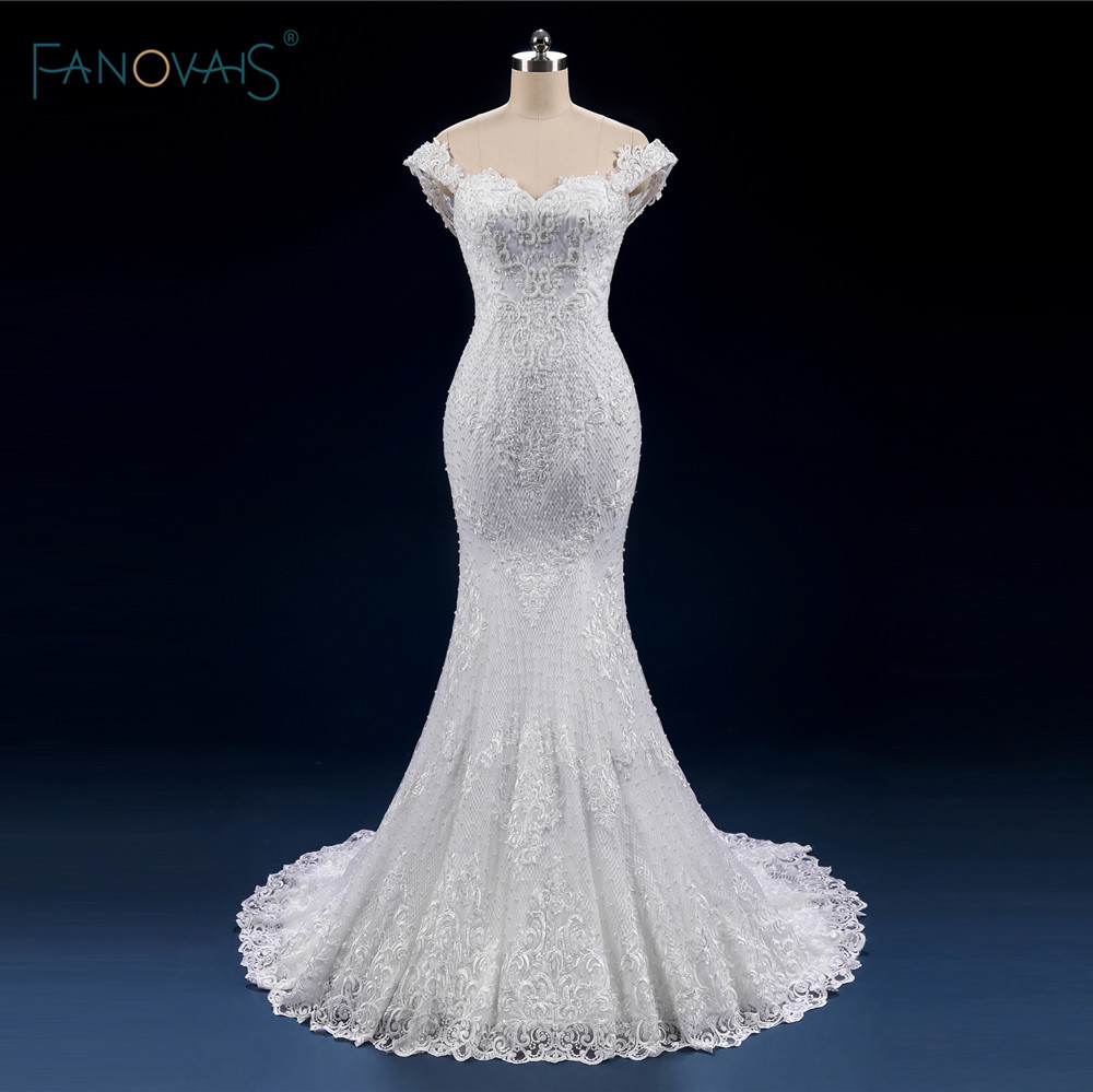 High quality white ivory wedding dresses long off the for Wedding dresses to buy off the rack