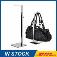Free Shipping Metal Polished Silver Hangbag Racks, Bag Display Stand, Bag Holders