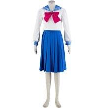 Сейлор Мун Косплэй матрос школьная Униформа Производительность костюмы Kawaii Удобный Хэллоуин Косплэй костюм женщина Платья для женщин