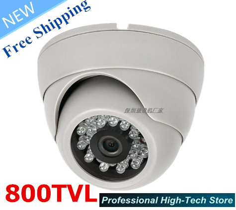 Free shipping!CCTV Camera HD 800TVL Sony CCD CCTV Cam IR 24Leds 1/3 sony ccd PAL/NTSC Security Camera Indoor with High quality free shipping new 1 3 sony ccd hd 1200tvl waterproof outdoor security camera 2 pcs array led ir 80 meter cctv camera