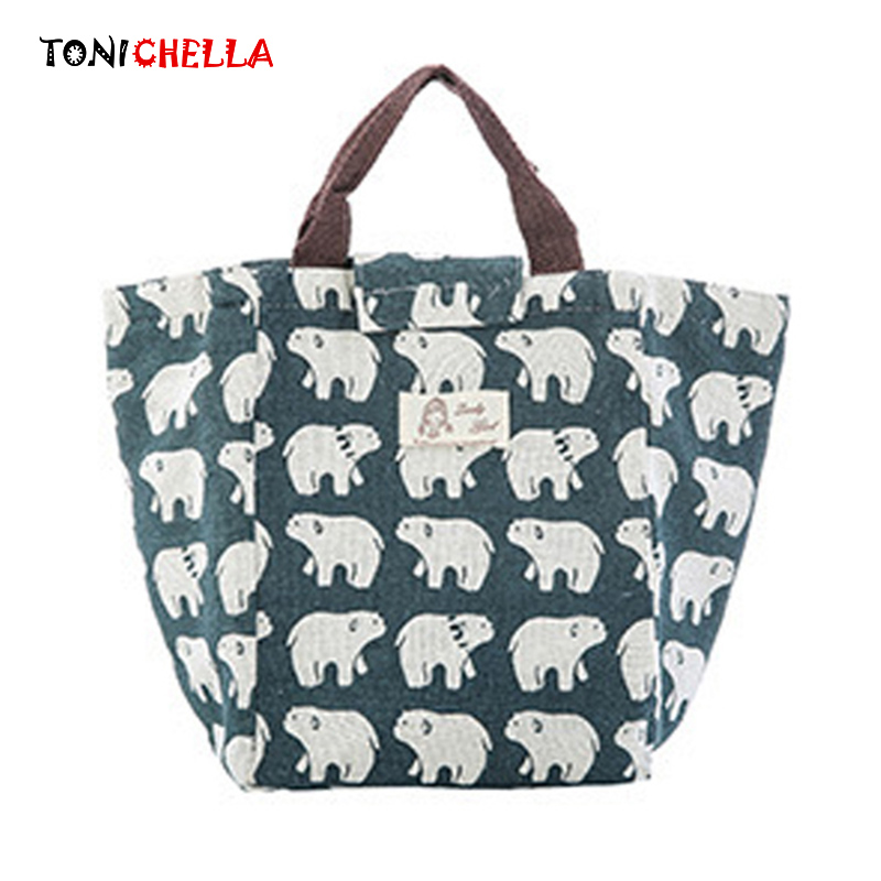 Portable Insulation Bag Feeding Food Milk Bottle Warmer Bear Pattern Large Mummy Breast Milk Thermal Kettle Casual Tote BB5034