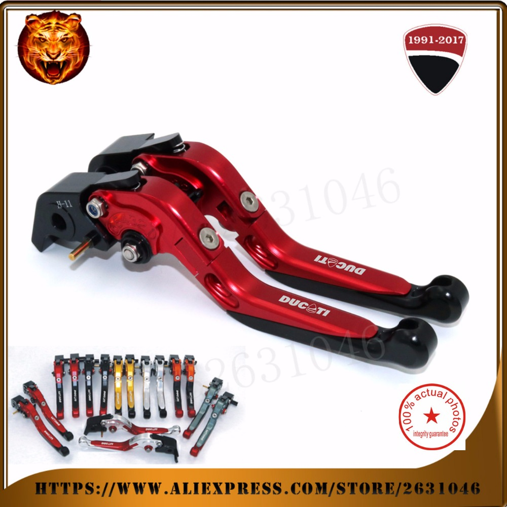 For DUCATI Monster 1200S Monster1200  M1100/S/EVO RED BLACK GOLD Motorcycle Adjustable Folding Extendable Brake Clutch Leve hot sale motorcycle accessories cnc adjustable folding brake clutch levers gold for ducati multistrada 1200 s m1100 s evo