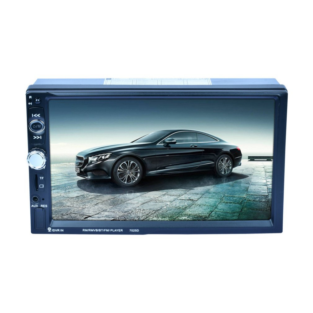 7025D HD Digital 7 Inch Touch Screen Car Multimedia Player Support Mobile Phone Interconnection GPS Bluetooth FM New mediox mid 7025 8gb