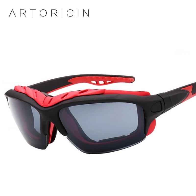 ARTORIGIN Cool Sunglasses Men Women Outdoors Goggles Anti-wind Reflective Sun Glasses Mirror gafas oculos ciclismo AT1208