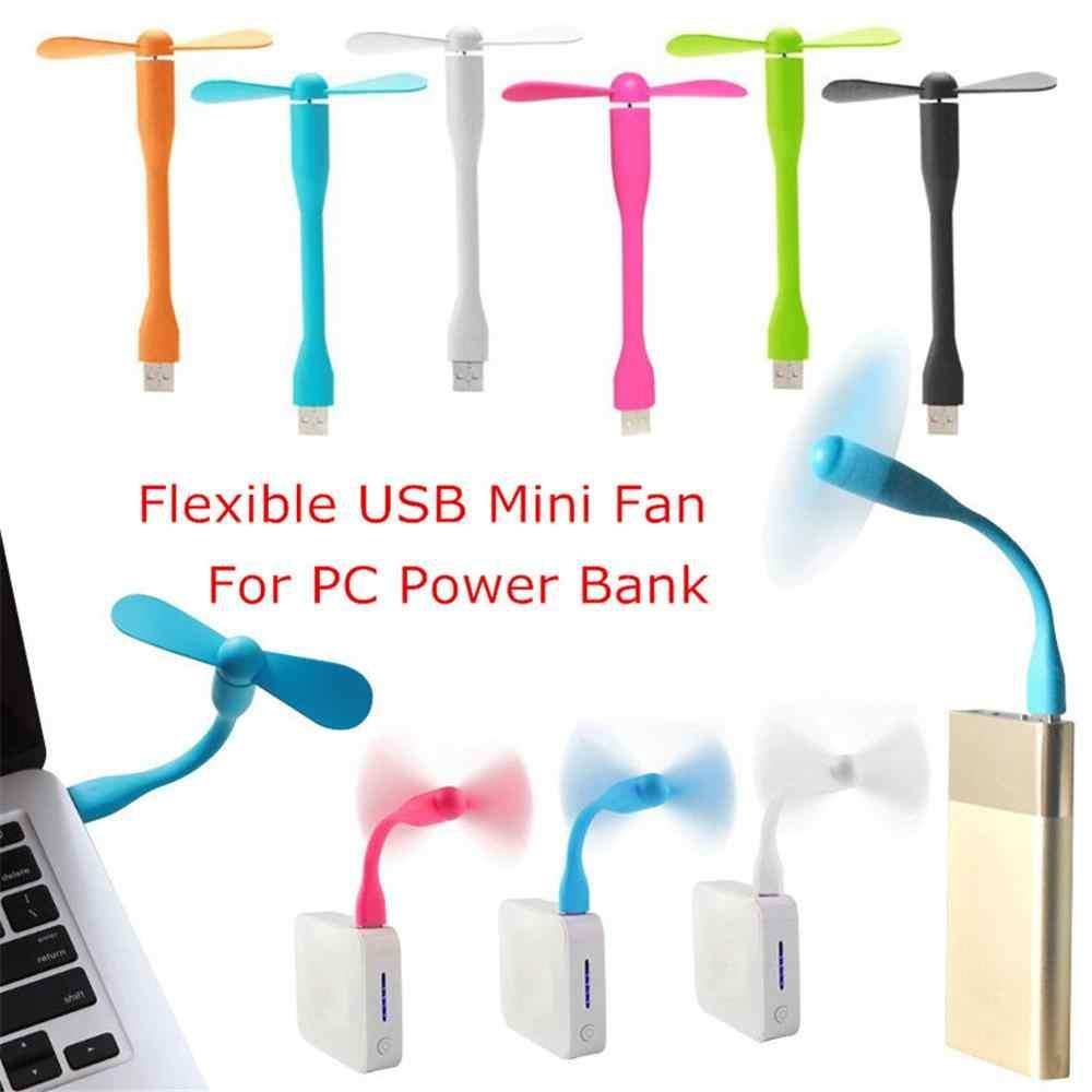 Promosyon! Sıcak satış moda esnek USB Mini Fan taşınabilir ayrılabilir PC için soğutma fanı güç bankası USB cihazları
