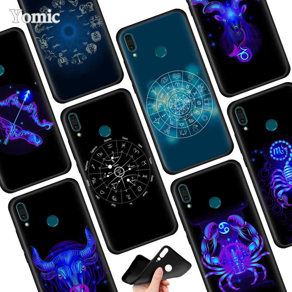 The Zodiac Black Soft <font><b>Case</b></font> for <font><b>Huawei</b></font> Y9 Prime Y7 Y6 Y5 Y6s 2019 Y5p Y6p Y9s <font><b>Nova</b></font> 7 6 SE <font><b>5T</b></font> 5 Pro <font><b>Silicone</b></font> <font><b>Mobile</b></font> Phone Cover image
