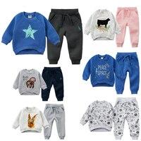 Children's Winter Boy Set Girls Velvet Outfits Winter Clothes Kids Tracksuits for Children Fashion Toddler Boys Warm Sports Suit