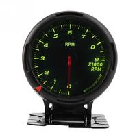 12V 64 Color Backlight Tachometer Gauge Kit Odometer Speedometer 09000RPM for Auto Racer Universal fit for most auto racer car