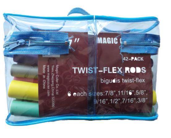 42Pcs Flexible Curling Rods Magic Curler Rod Twist-flex Hair Roller 7 Sizes Foam Reusable Non Heating Safe Styling Tool 2