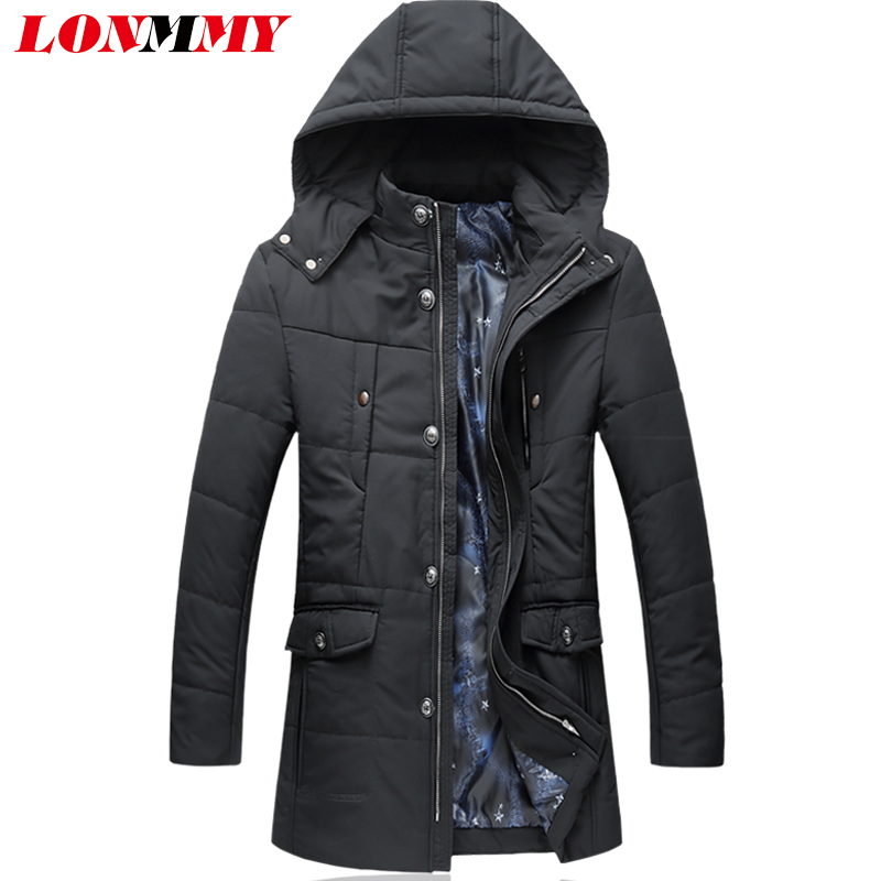 LONMMY 5XL 6XL Winter jacket men parka Hooded thicken mens jackets and coats hoodies Fashion Black Causal parka men Long style hot sale winter jacket men fashion cotton coat warm parka homme men s causal outwear hoodies clothing mens jackets and coats