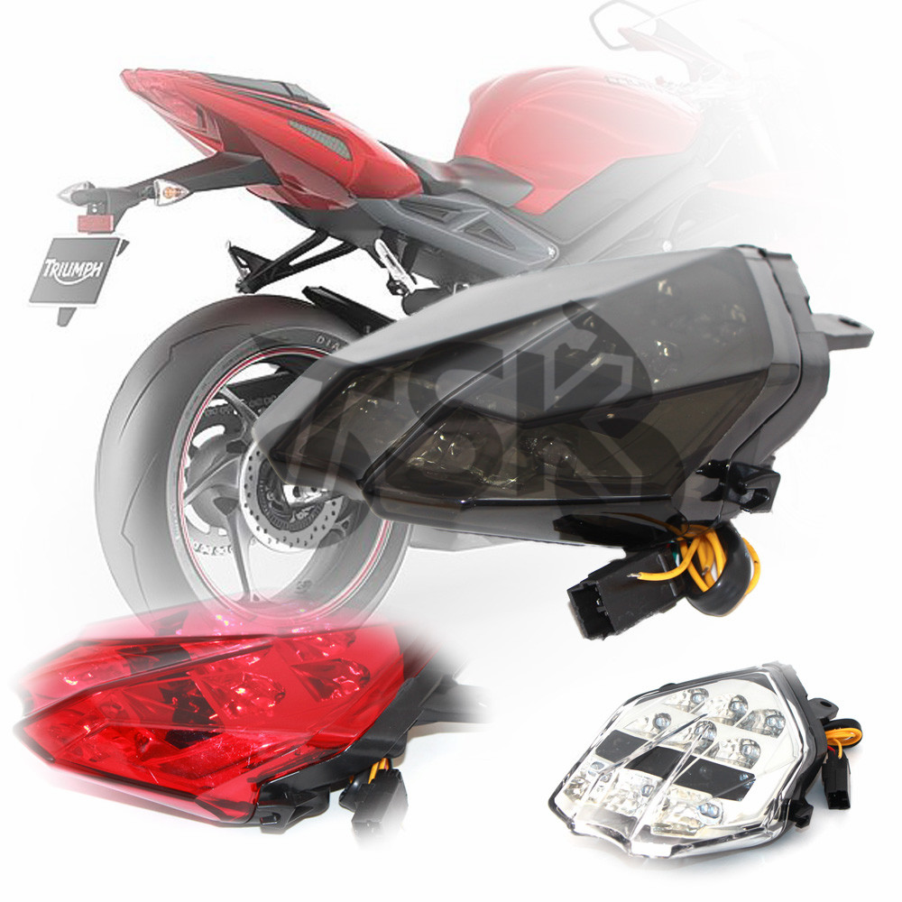 For Triumph Daytona 675 675R 2013 2014 2015 Motorcycle Accessories Integrated LED Tail Light Turn signal Blinker LampFor Triumph Daytona 675 675R 2013 2014 2015 Motorcycle Accessories Integrated LED Tail Light Turn signal Blinker Lamp