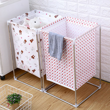 Waterproof foldable home laundry basket Bathroom dirty cloth organizer toy storage bucket collapsible large laundry hamper