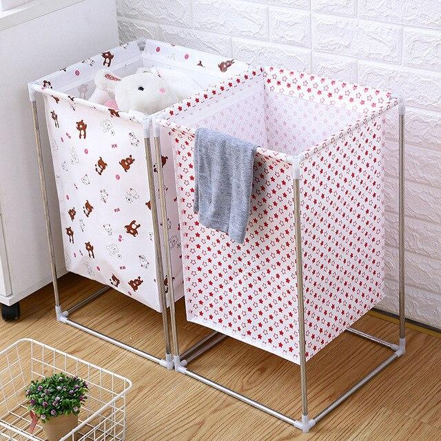 À prova d' água em casa dobrável cesta de lavanderia Banheiro sujo pano organizador dobrável grande cesto de roupa suja balde de armazenamento brinquedo