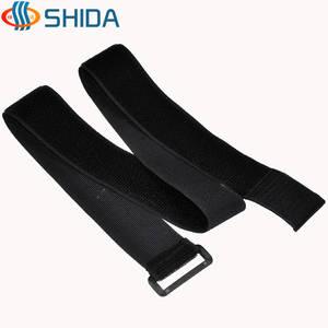 PPING Klettverschluss Selbstklebend Klettband selbstklebend wei/ß Self Adhesive Sticky Band Klett Klebrigen Pads Doppelseitiges Klebeband Black,16mm