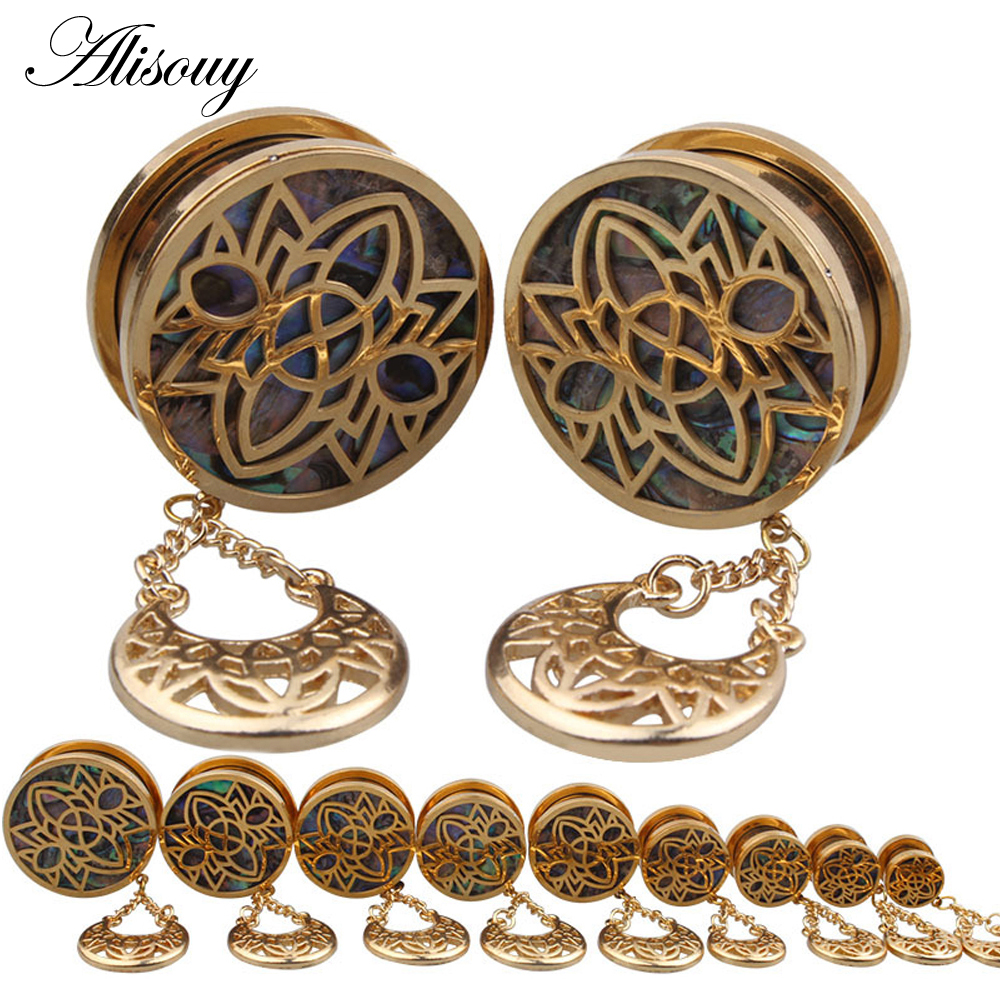 Alisouy 2Pcs Stainless Steel Hollow Dangle Shell Paper -5698