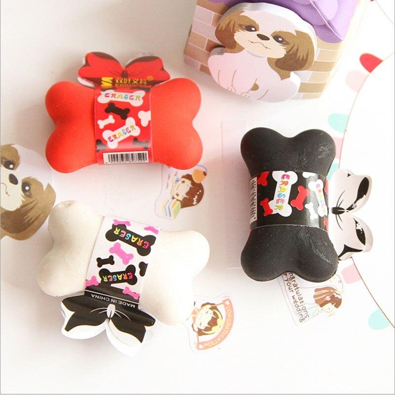 1pcs/lot kawaii cute Bone rubber eraser creative stationery office school supplies papelaria kids gift learning supplies