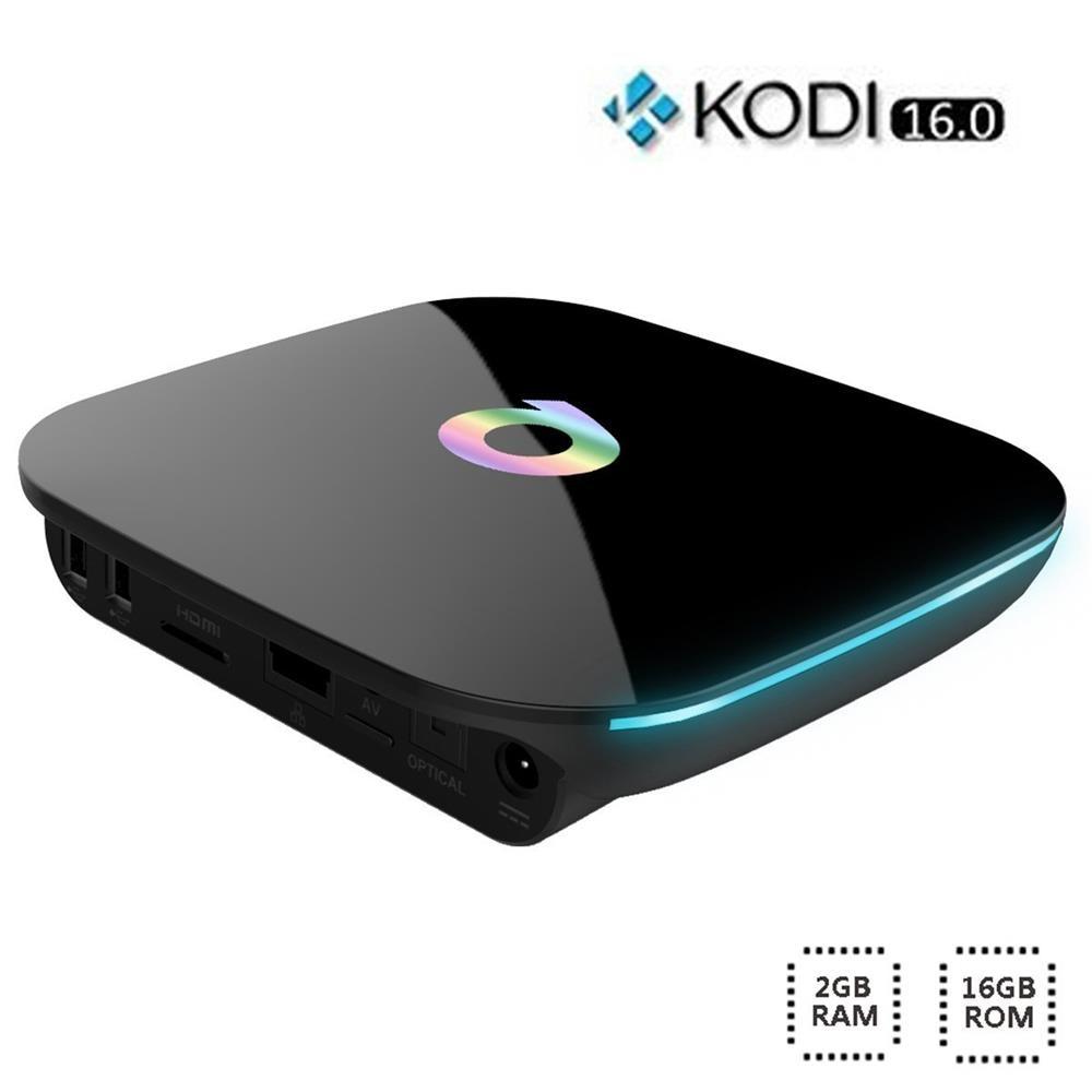 Q BOX Android 6.0 TV Box 2G/16G S905X Quad Core UHD 4K H.265 KODI Miracast Airplay 2.4G 5G WiFi Bluetooth 4.0 Media Player