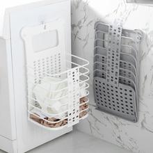 цены на Foldable Dirty Laundry Basket Household Plastic Storage Basket Sundries Wall-Mounted Organizer anti-pressure Laundry Baskets в интернет-магазинах