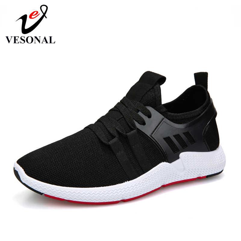 Марка vesonal 2019, новинка, дышащая удобная мужская обувь с сеткой, Повседневная легкая прогулочная мужская обувь, теннисные кроссовки, женская обувь