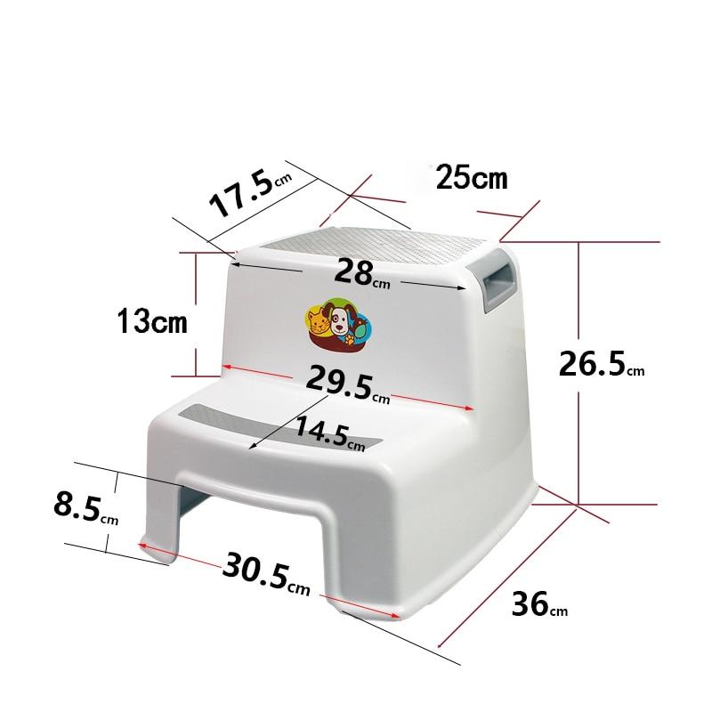 Купить с кэшбэком 2 Step Stool for Kids Toddler Stool for Toilet Potty Training Stool for Bathroom kitchen