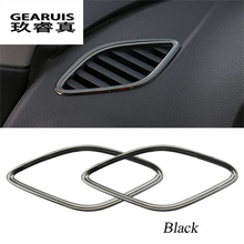 Car Air outlet conditioning Cover Decorative stainless steel frame Car Accessories 2pcs/Set 3D stickers For Audi A3 8V 2013-2017