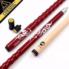 "CUESOUL Very Nice Grip 58"" 21oz Maple Pool Cue Stick with 13mm Cue tips+Cue Jointed Protector/Cue Shaft Protector"