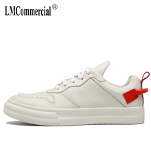 Spring white shoes men thick bottom Leisure mens shoes genuine leather all-match cowhide men designer sneakers male casual shoes недорого