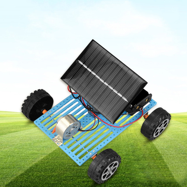 Educational Solar Car Powered by the Sun+Battery Double power Solar Powered Toys Car Kit Educational Science toys for boys 1